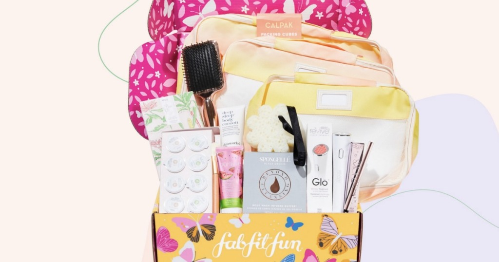 FabFitFun Spring Box filled with beauty items