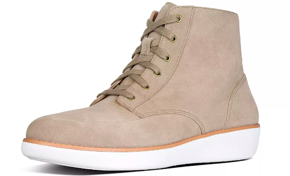pair of tan boots