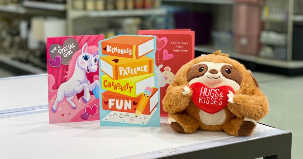 Free Plush Sloth At Target with three cards