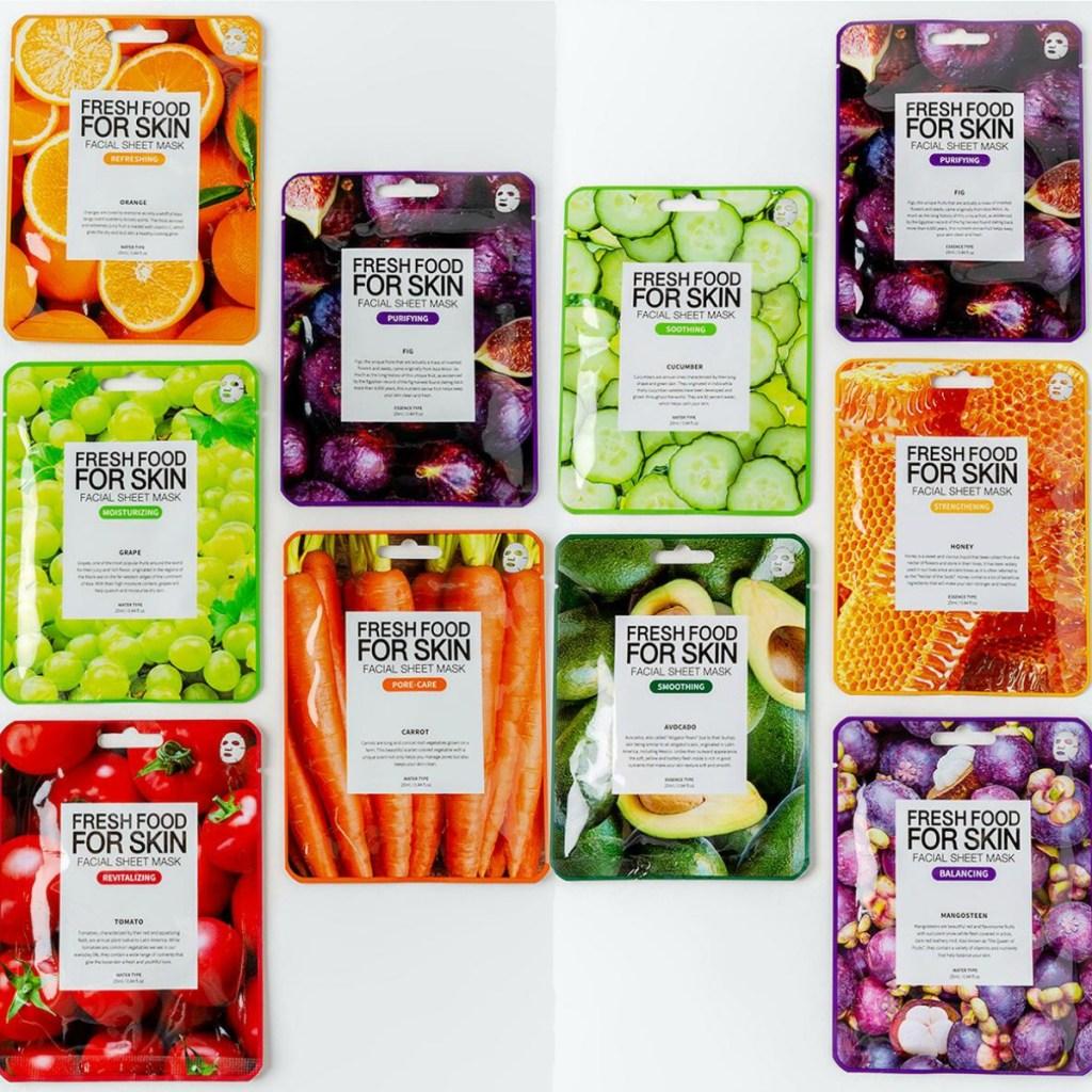 Fresh Food for Skin Face Masks