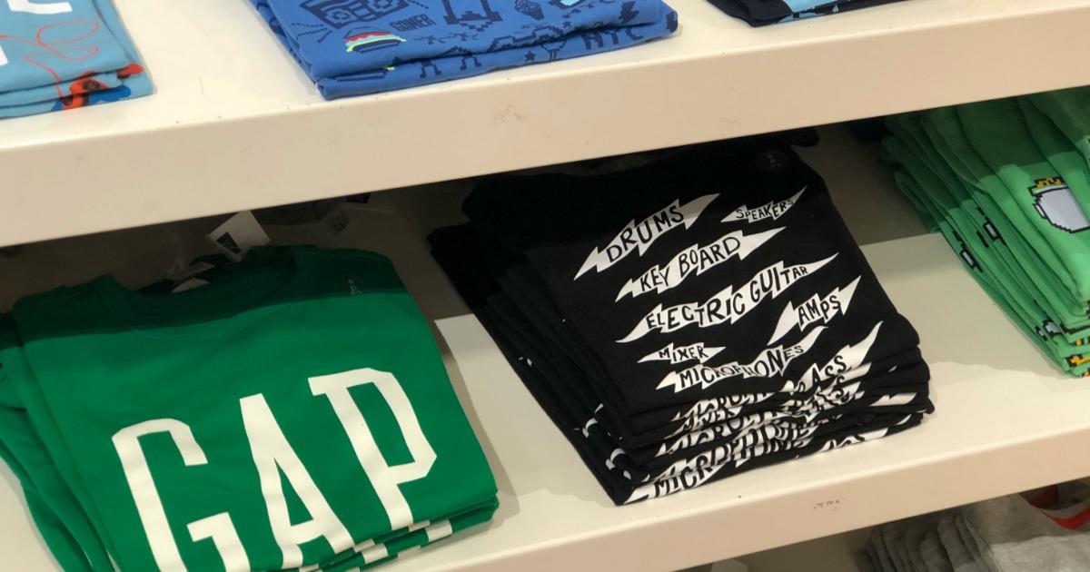 GAP Kids Apparel on shelf at GAP Store