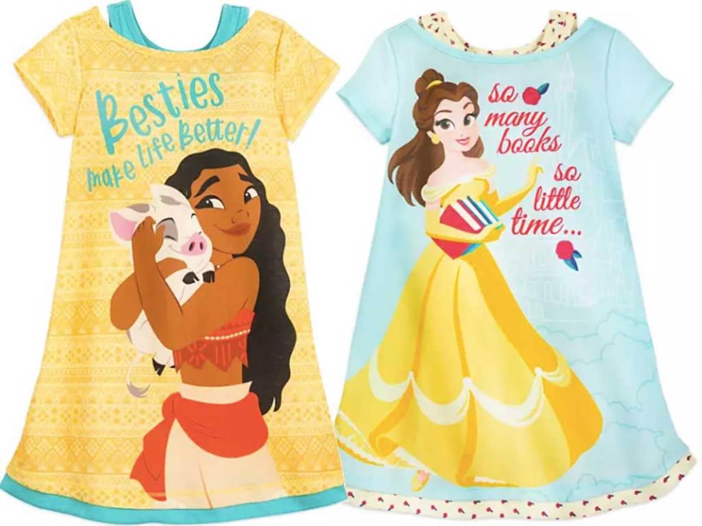 disney girl night shirts stock images