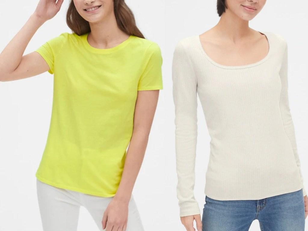 Gap Women's Tees on models
