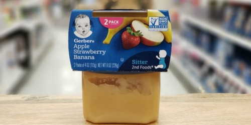 Gerber Fruit & Veggie 32-Count Baby Food Variety Pack Only $21.96 at Walmart