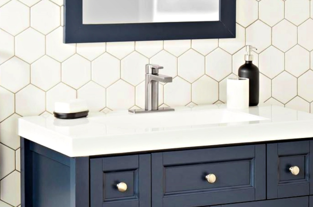 Glacier Bay Single-Handle Low-Arc Bathroom Faucet in Brushed Nickel or Matte Black
