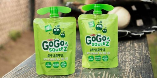 GoGo squeeZ Variety 20-Pack Only $8.30 Shipped on Amazon | Just 42¢ Per Pouch