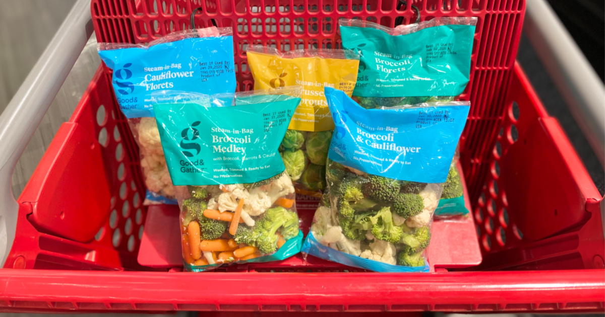 good & gather vegetables in target cart