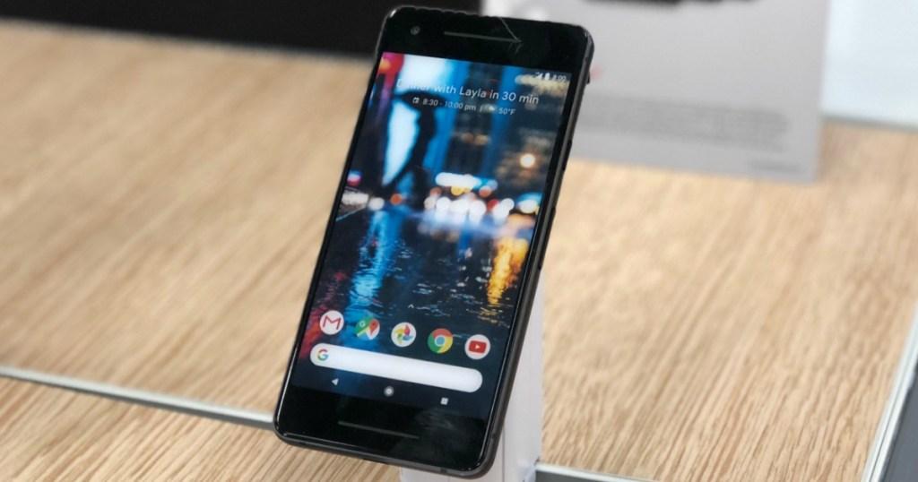 Google Pixel 4 Smart Phone on display