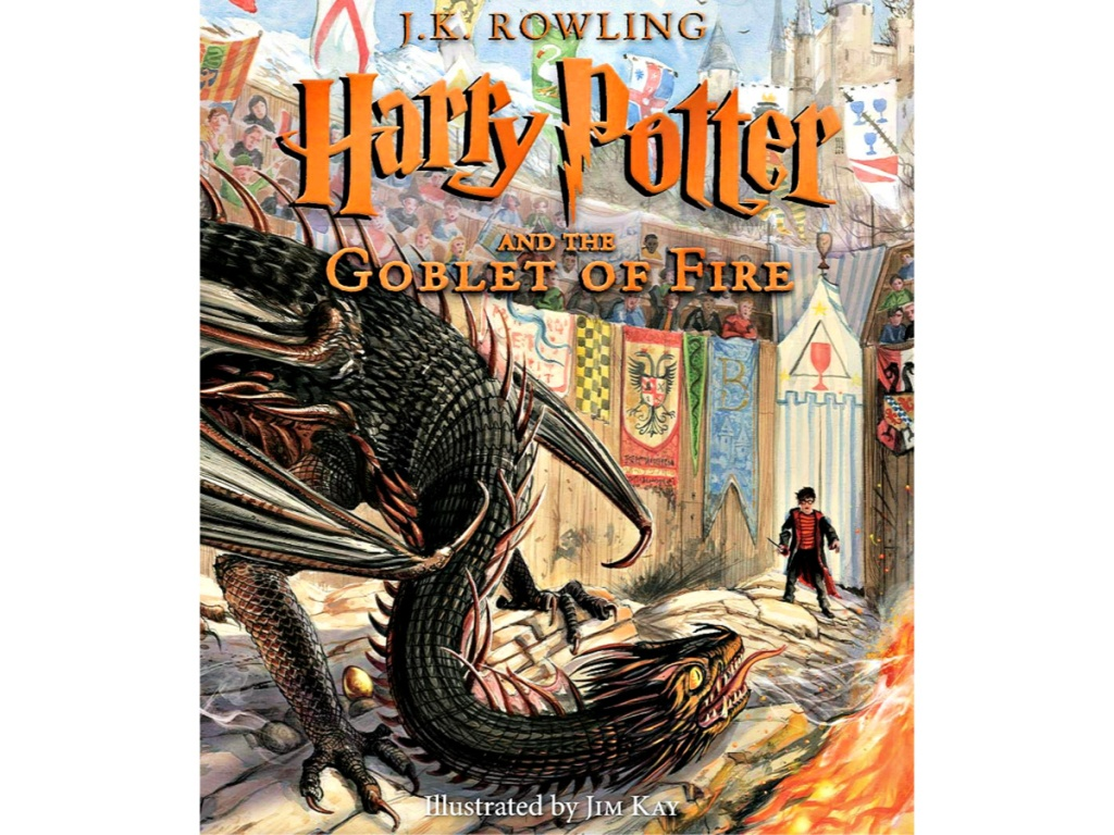 Harry Potter and the Goblet of Fire: The Illustrated Edition Hardcover Book