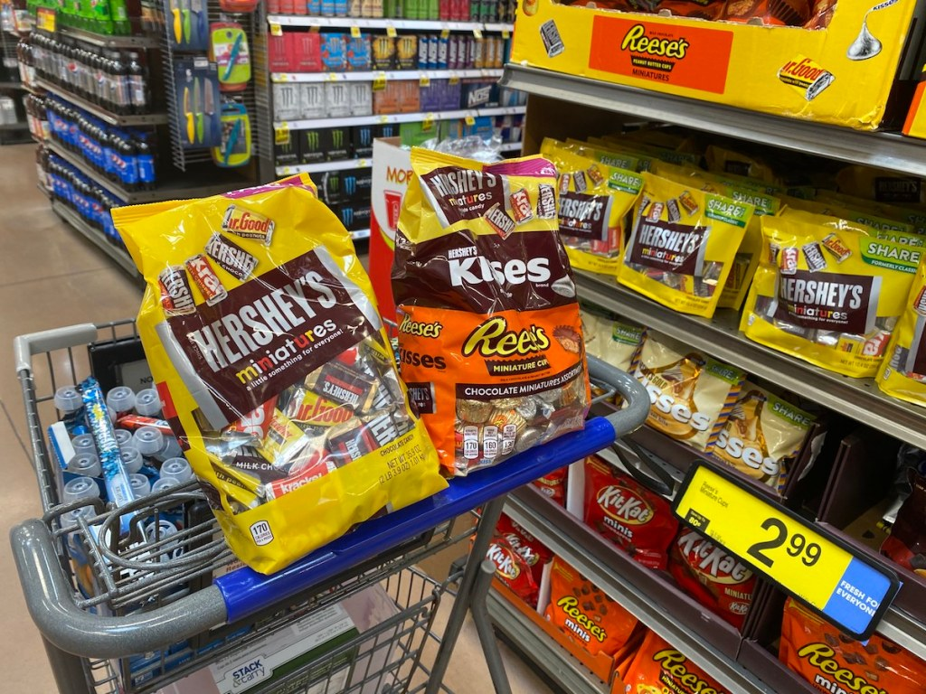 Hershey's Candy Party Bags on Kroger Cart
