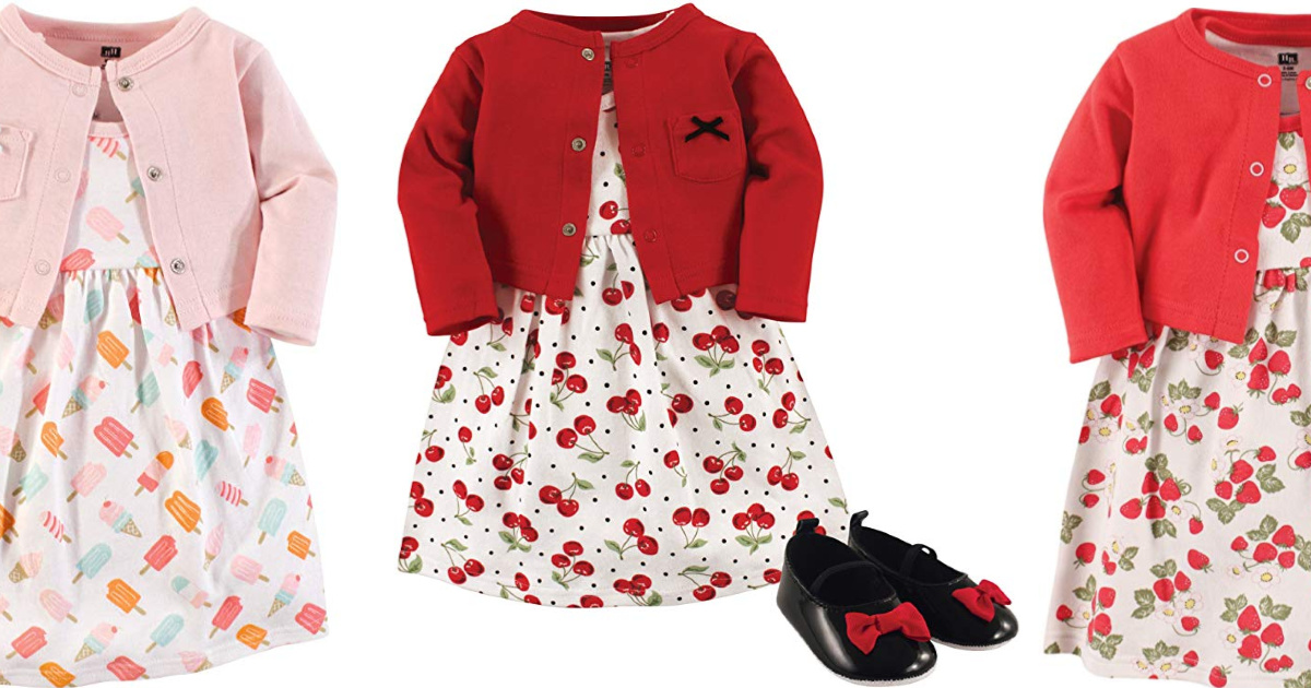 cherry dress cardigan and shoes with Popsicle dress and strawberry dress