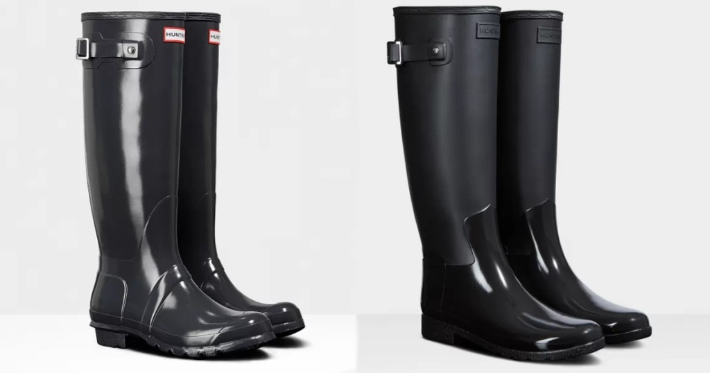 Two pairs of Hunter Boots for Women
