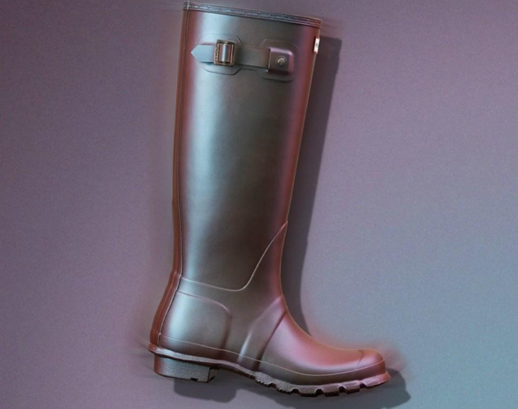 tall iridescent rain boot