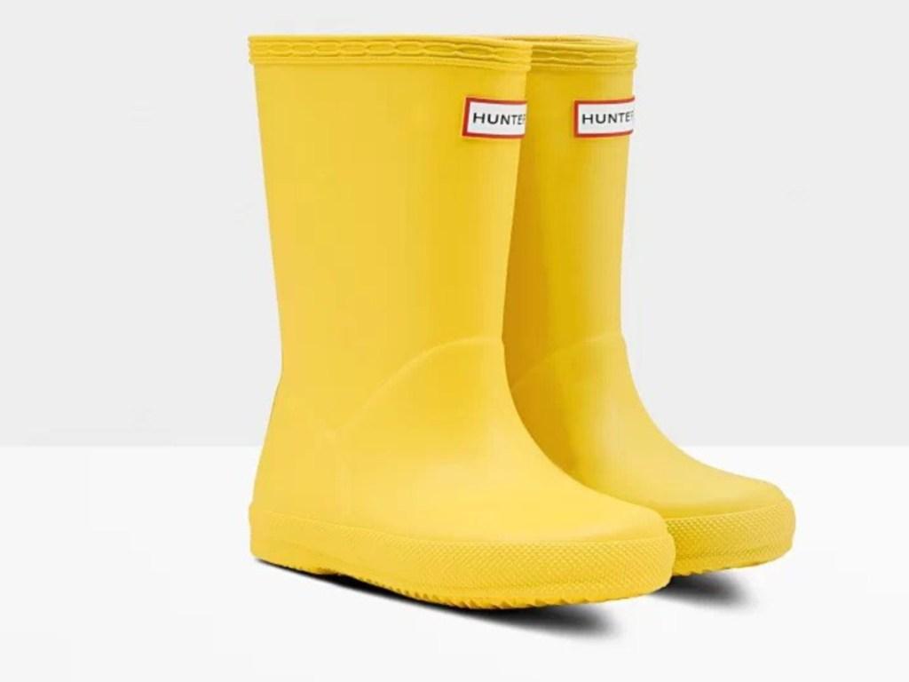 Hunters Original Kids First Classic Rain Boots Lightening Yellow