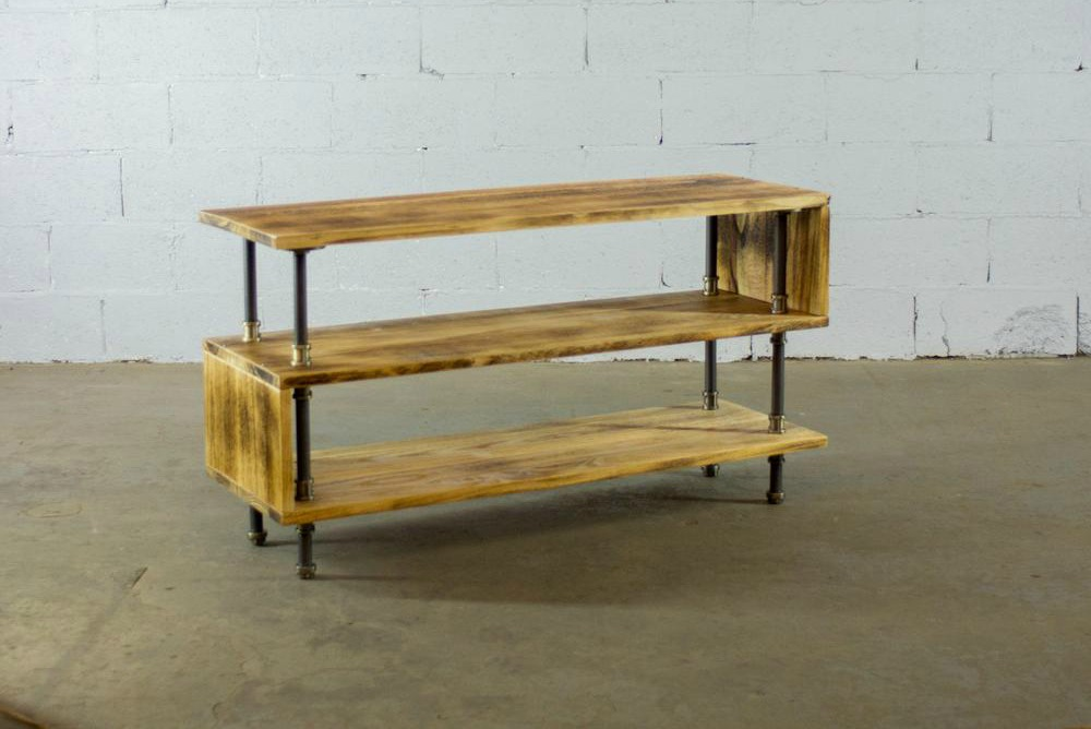 Industrial TV Stand from Furniture Pipeline Co