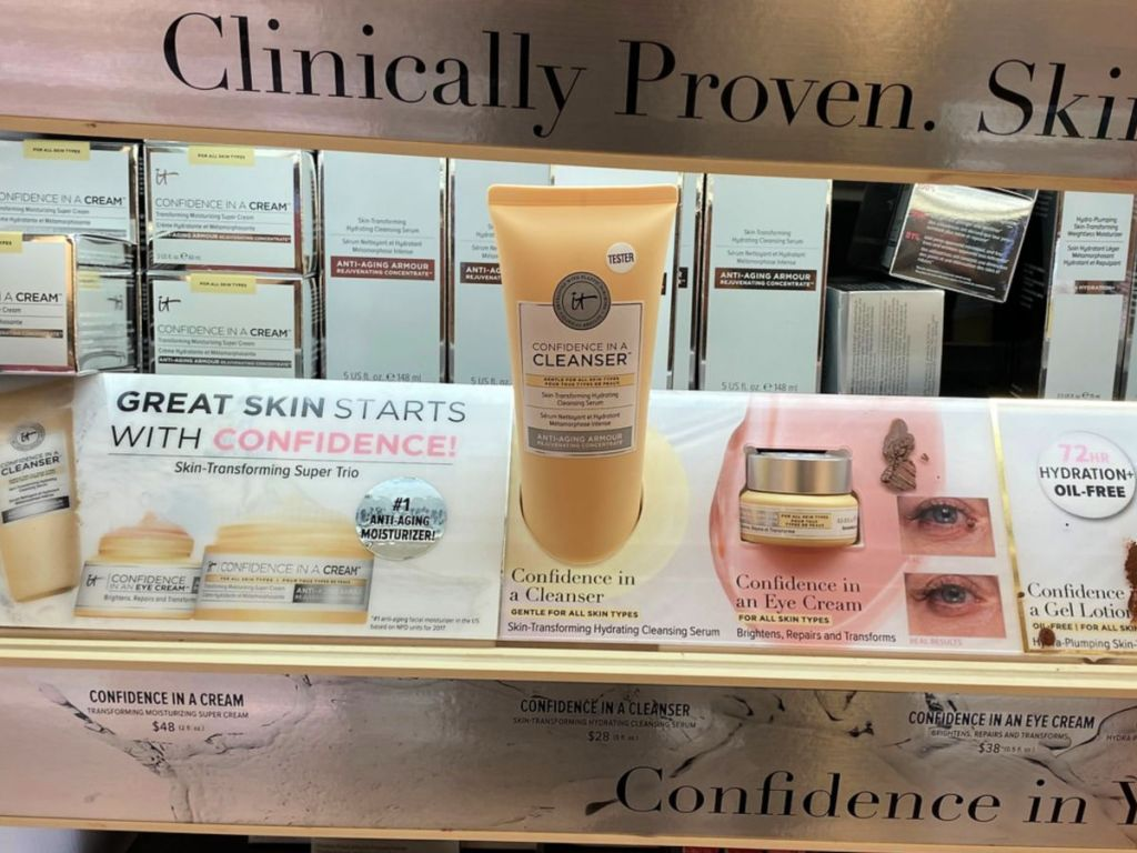 shelf with It Cosmetics Confidence in a Cleanser in ulta
