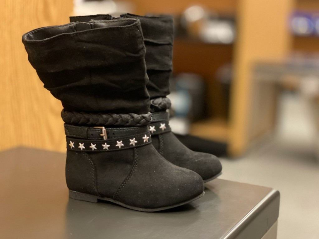 black rope and stars jumping bean girls boots
