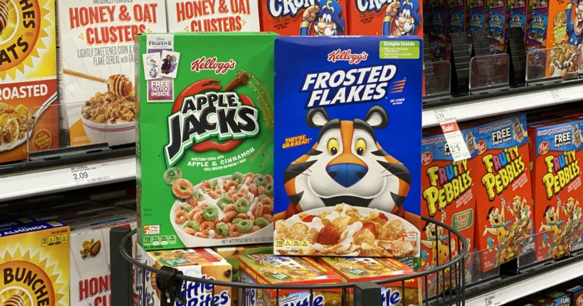 Kellogg's Apple Jacks and Frosted Flakes