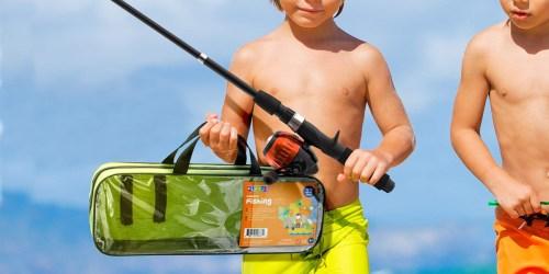 40-Piece Kids Fishing Pole Set & Tackle Box Set Only $13.99 (Regularly $29)