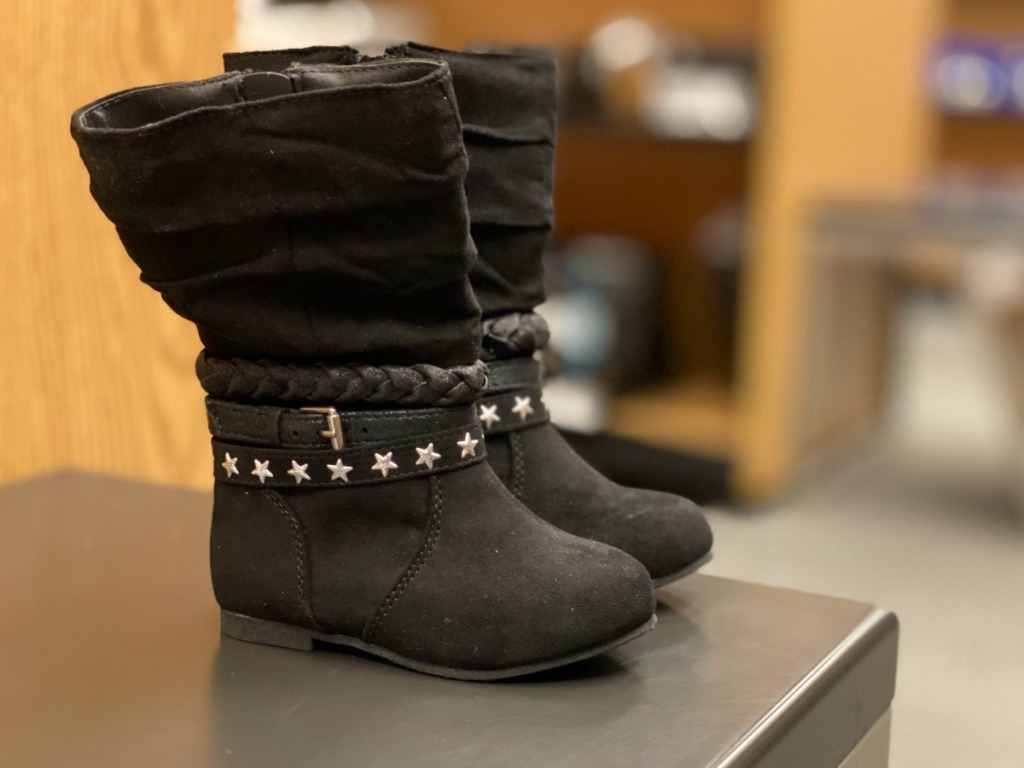 Black Girls boots at Kohl's store