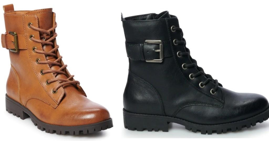 So Women's Combat Boots