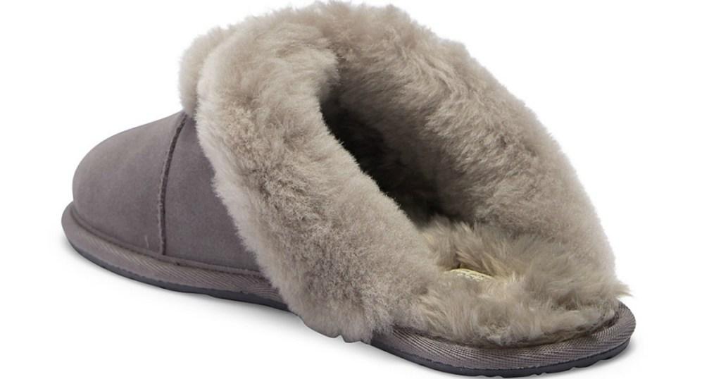 gray women's slipper