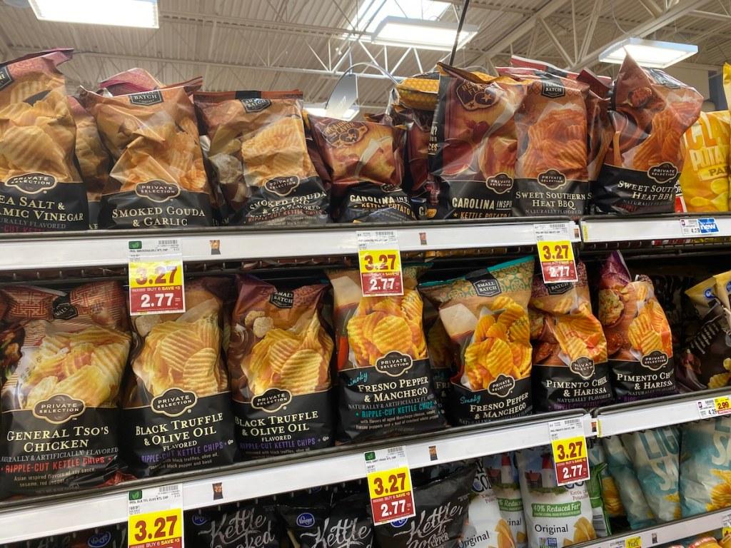 Kroger Chips on store shelf