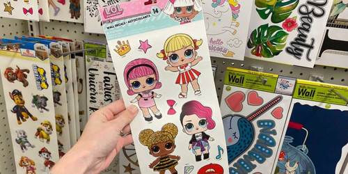 Wall Decals Only $1 at Dollar Tree | L.O.L. Surprise!, JoJo Siwa, & More