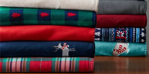 Land's End Plush Throw Blankets Only $8.38 Shipped (Regularly $30)