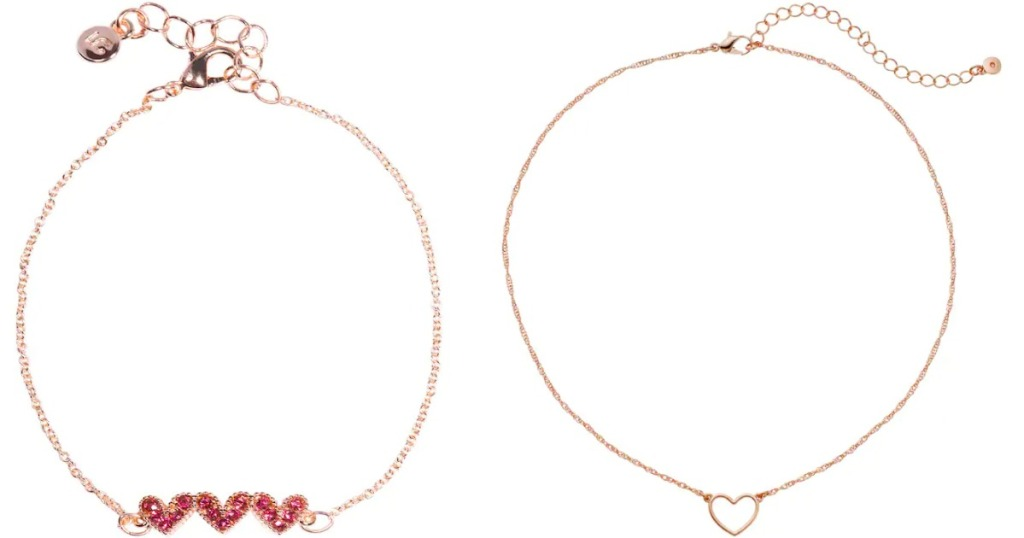 Lauren Conrad Heart Bracelet and Necklace