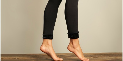 Lemon Legwear Faux Fur-Lined Leggings Only $9.99 at Zulily (Regularly $25)