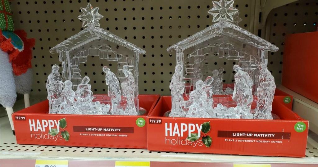 Light-up Nativity from Walgreens