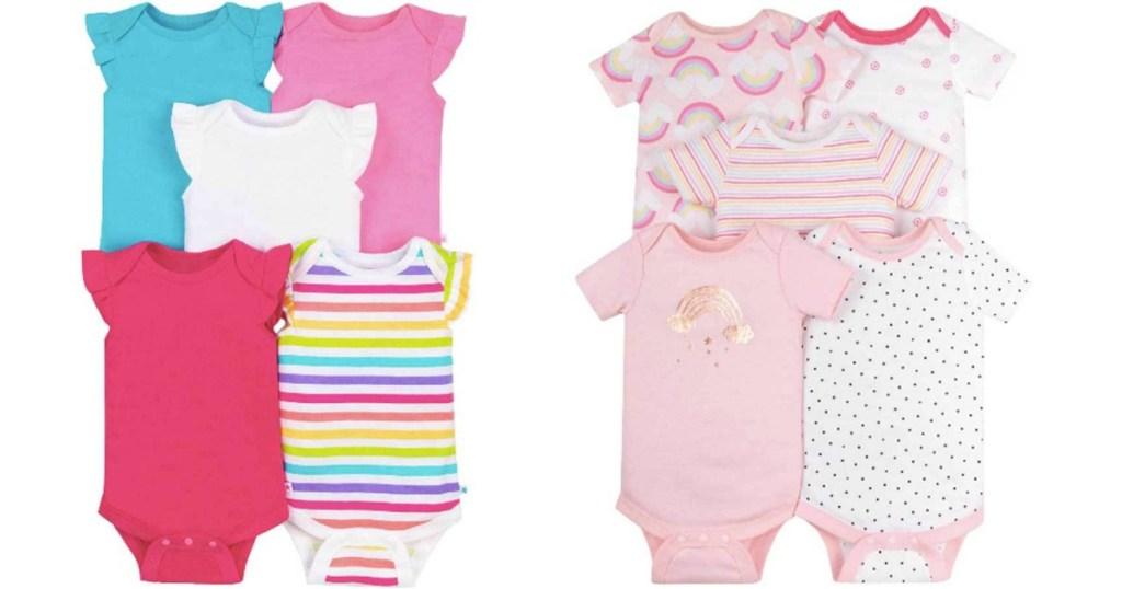 Little Star Bodysuits 5-Packs From Walmart