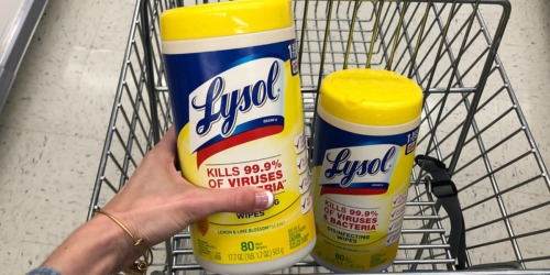 Lysol Disinfecting Wipes 80-Count Canister Just $4 on Amazon