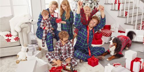 Matching Family Holiday Pajama Sets as Low as $7.50 Each at Macy's