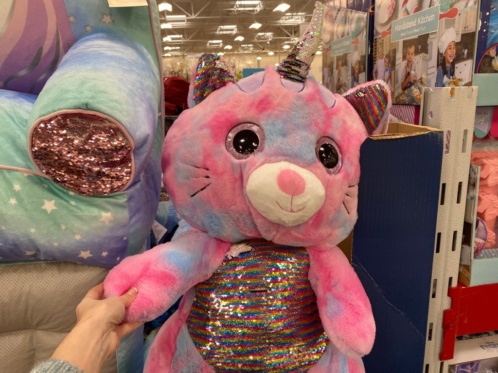 Magic Sequin Plush in Sam's Club Bin