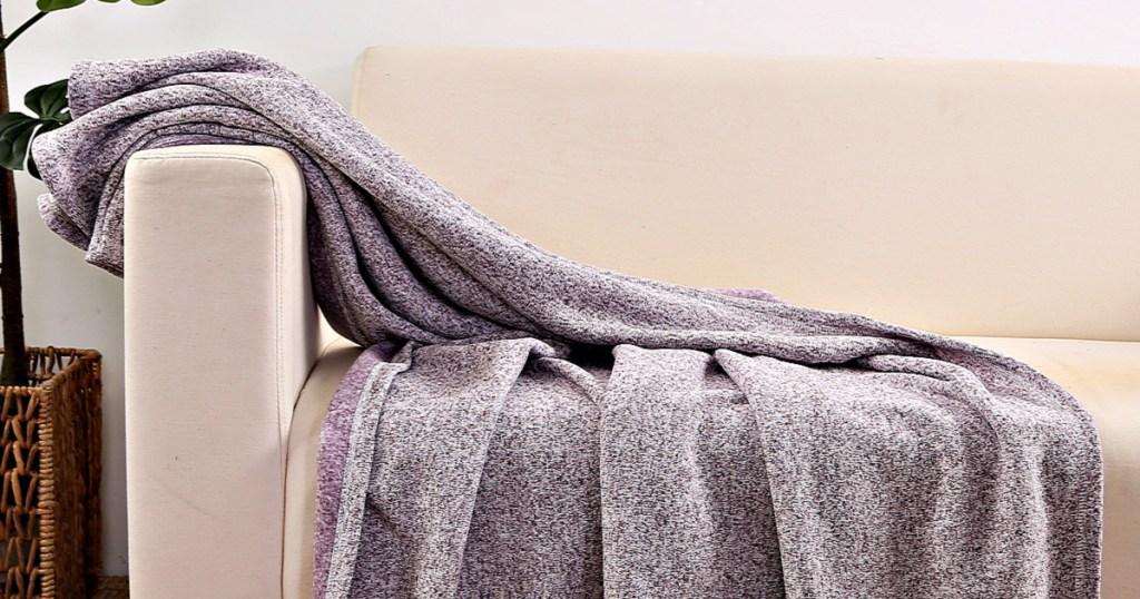 Mainstays Sweater Fleece 4-Pack Throw Blankets