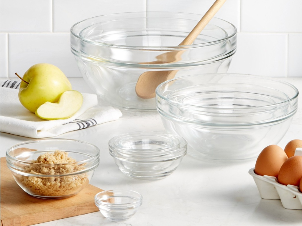 Martha Stewart Glass Mixing Bowls at Macy's