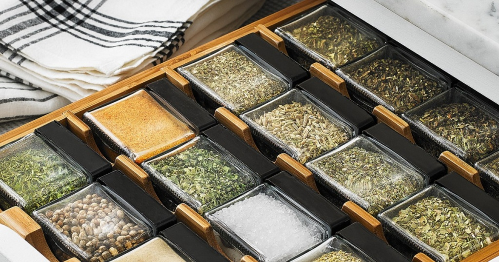 Martha Stewart Spice Cubes in a drawer