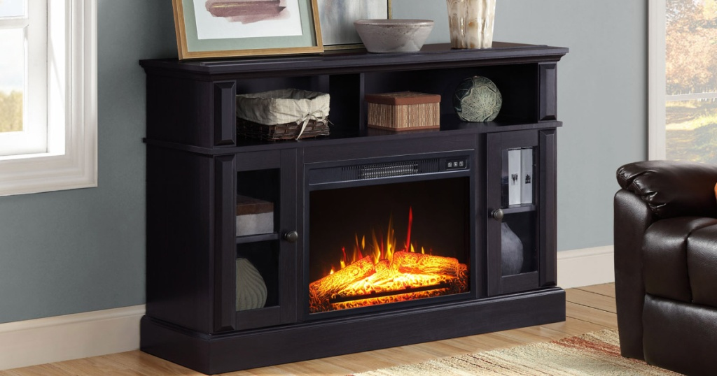 Whalon fireplace media console