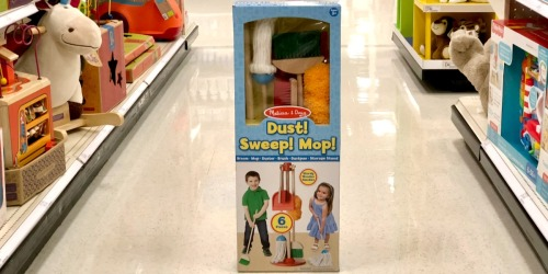 Melissa & Doug Let's Play House! Dust! Sweep! Mop! Set Only $14.39 Shipped (Regularly $30)