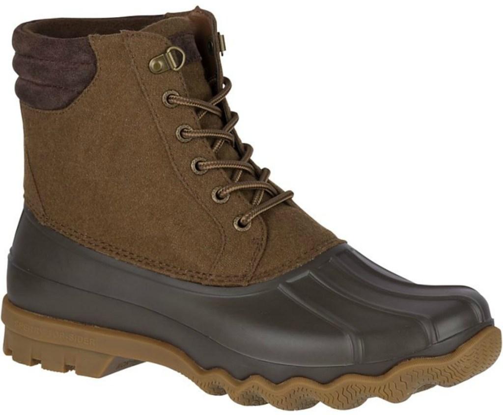 Men's dark brown duck boot