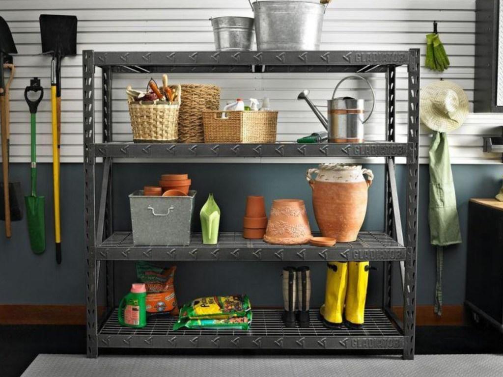 Gladiator 4-Shelf Welded Steel Garage Shelving Unit Home Depot