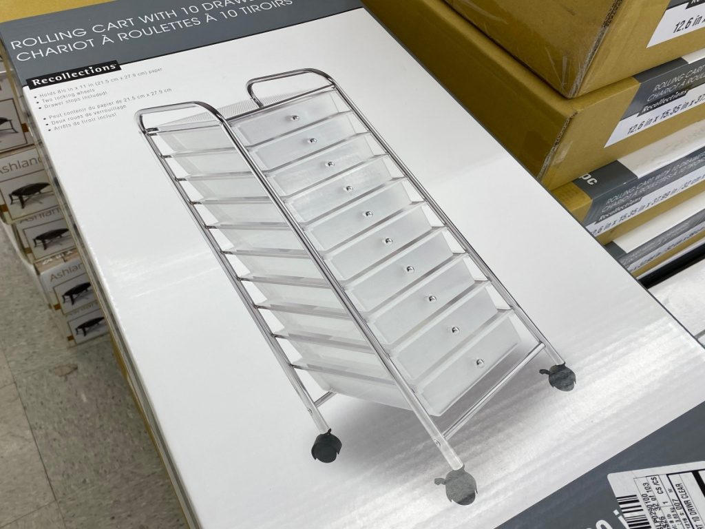 Michaels storage organization 10 drawer cart