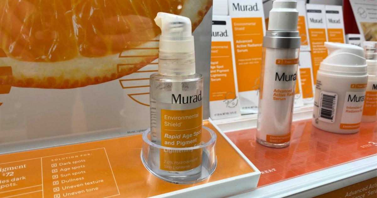 Murad Rapid Age Spot and Pigment Lightening Serum on shelf at ulta
