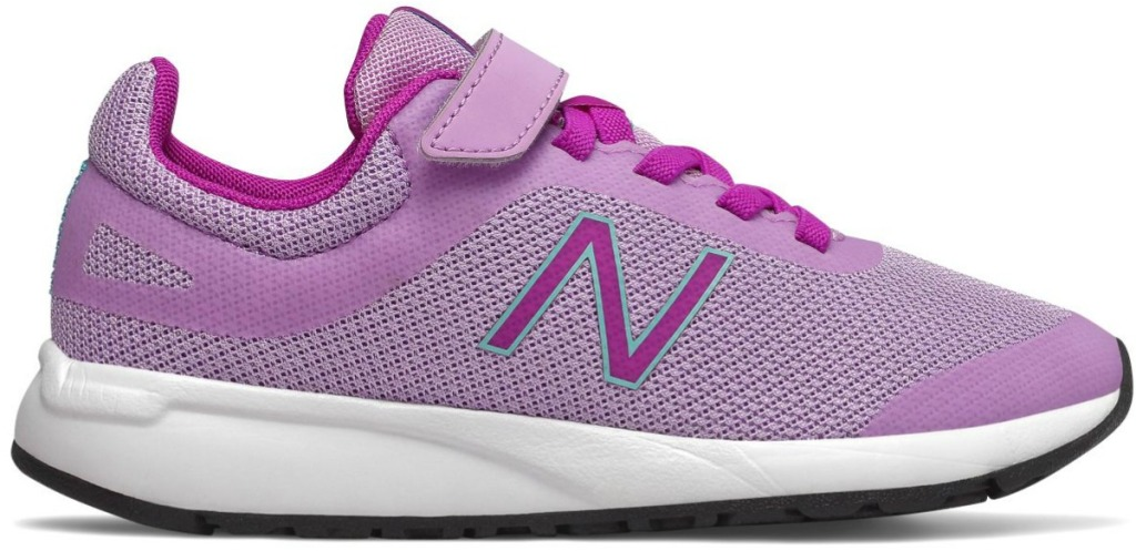 Light purple colored girls tennis shoes