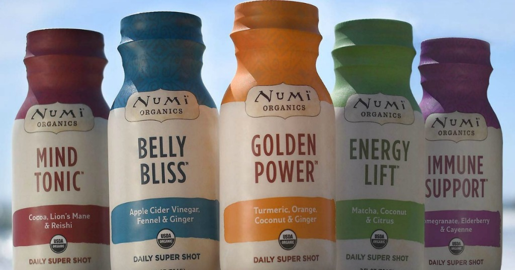 Numi Daily Super Shots in a line