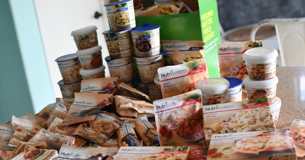 Nutrisystem contents displayed on table
