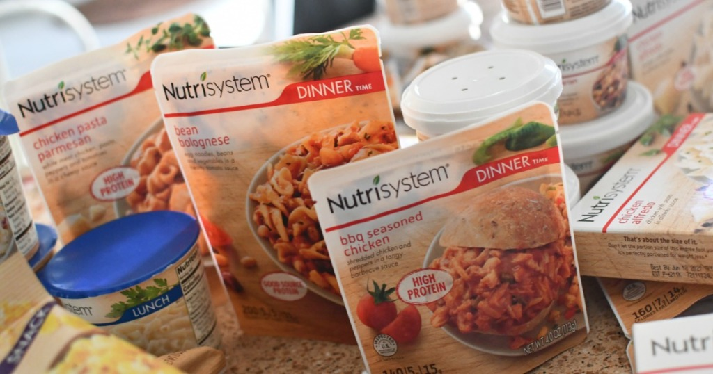 Nutrisystem Dinners on counter