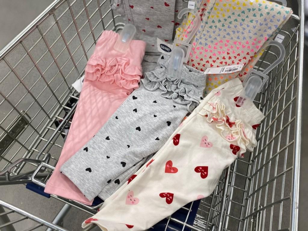 Baby Girl leggings in old navy shopping cart